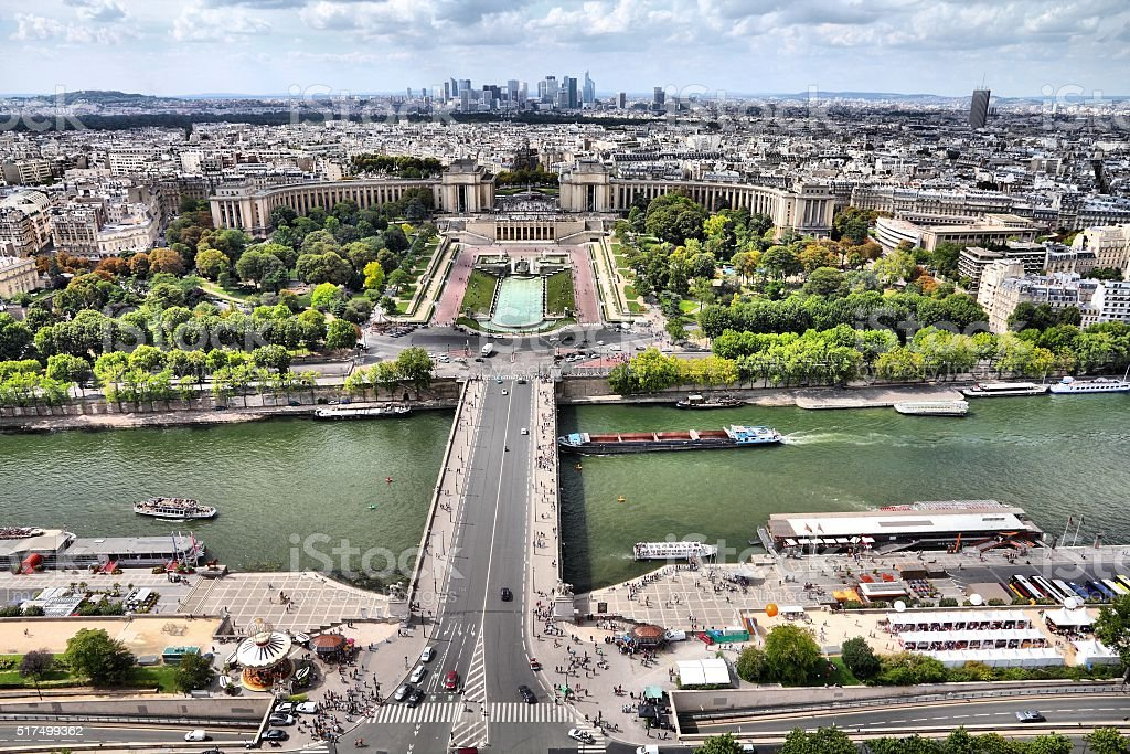 Paris aerial view stock photo