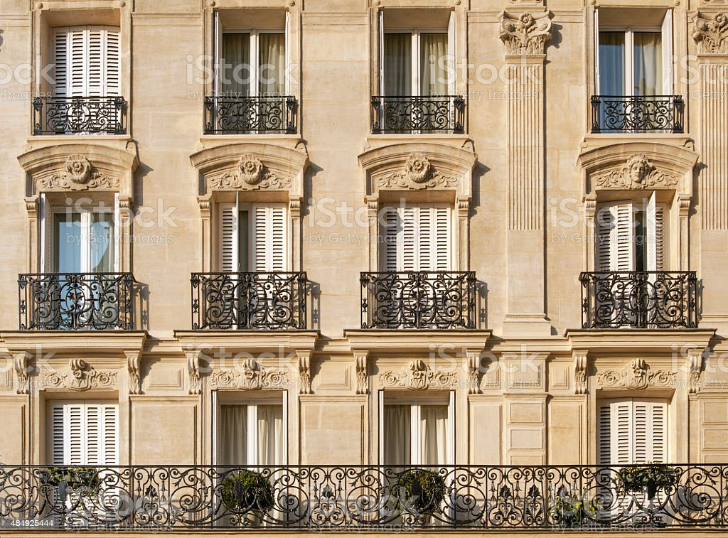 Paris apartments stock photo