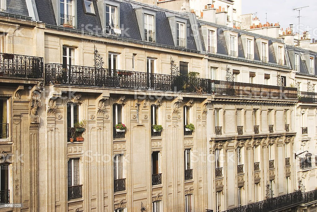 Paris Apartments royalty-free stock photo