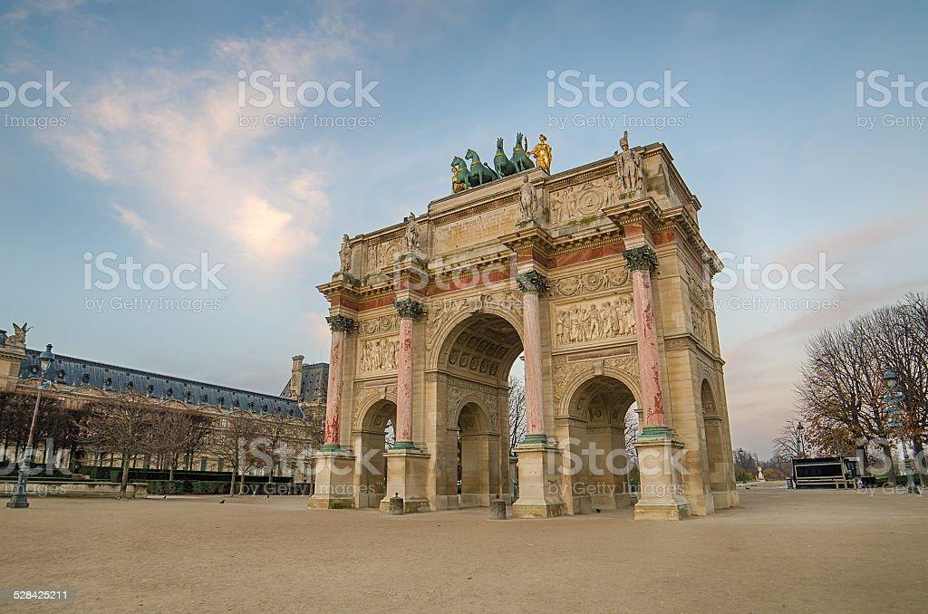 Paris (France). Arc de Triomphe du Carrousel stock photo