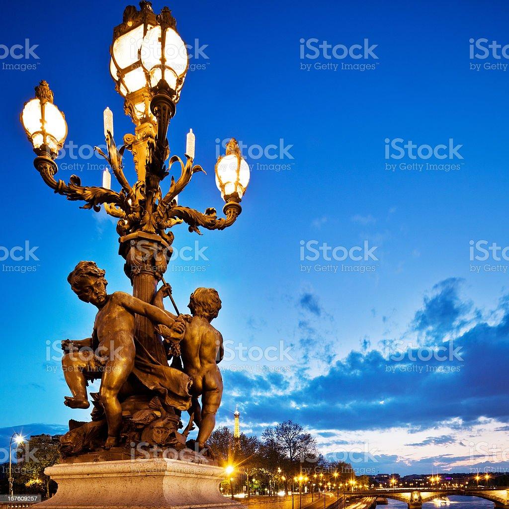 Paris at Dusk royalty-free stock photo