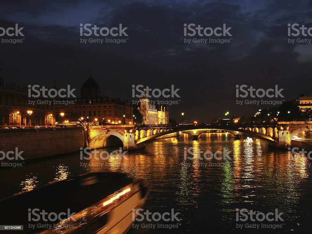 Paris at night royalty-free stock photo