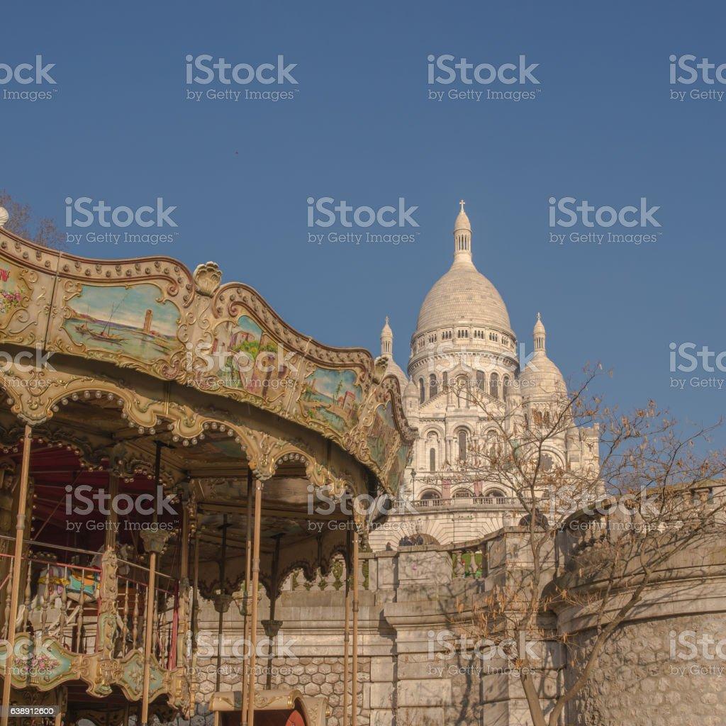 Paris, basilica stock photo