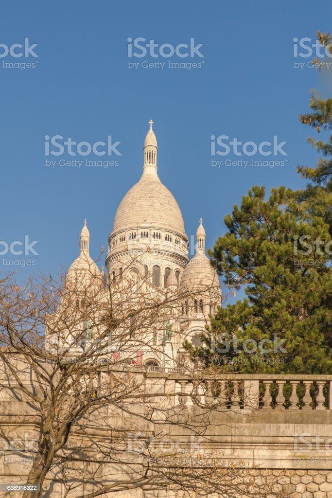 Paris, basilica Sacre-Coeur stock photo