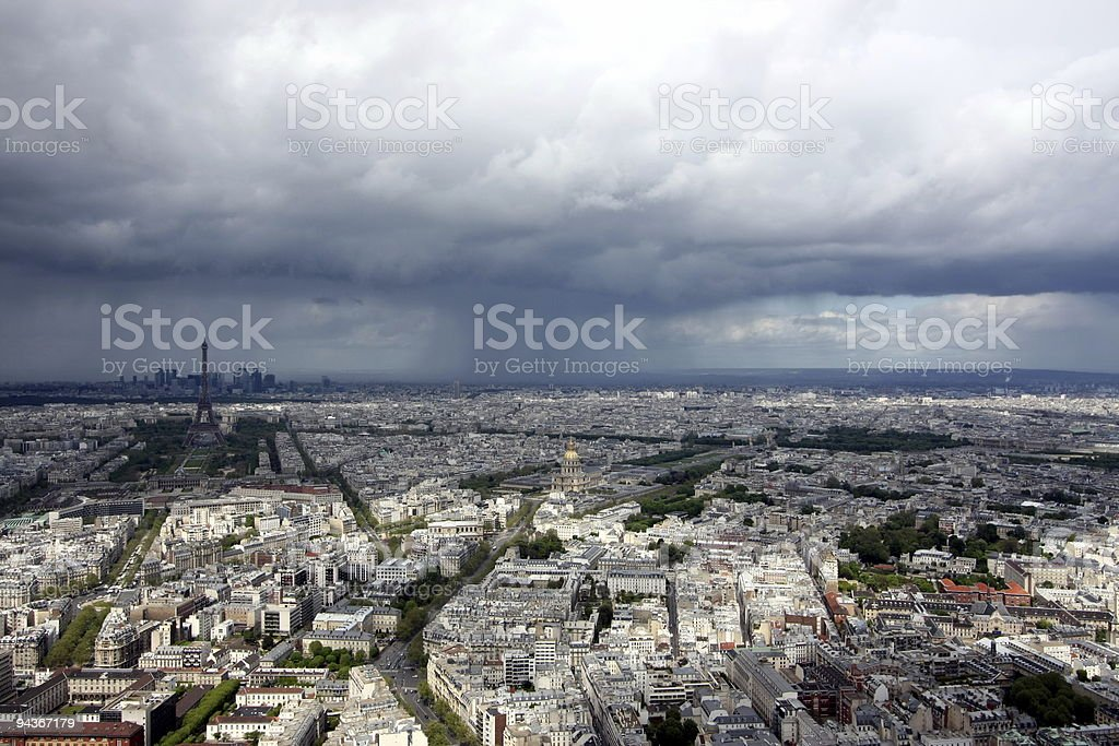Paris before rain stock photo