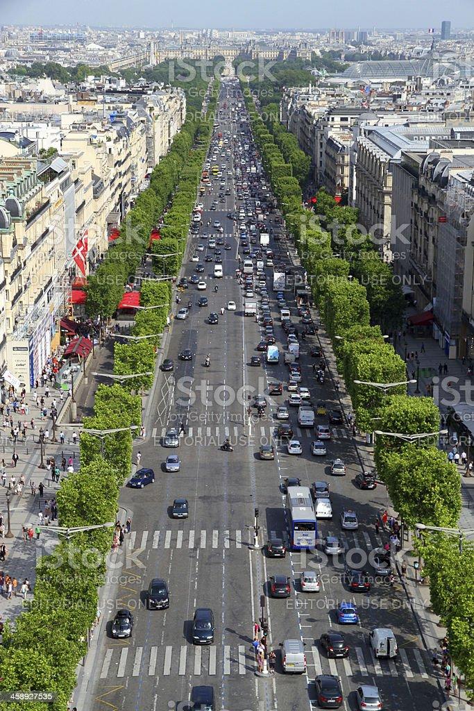 Paris Below royalty-free stock photo