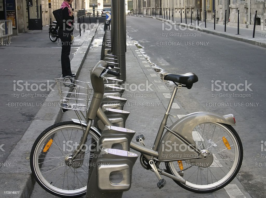 Paris Bike Hire 1 stock photo