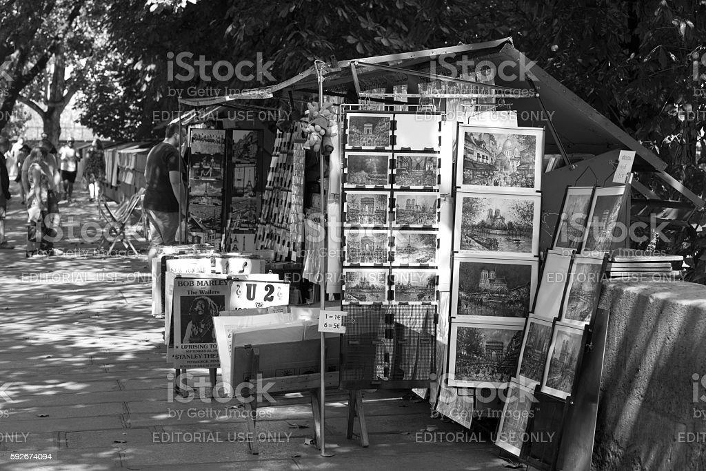 Paris Bouquinistes stock photo