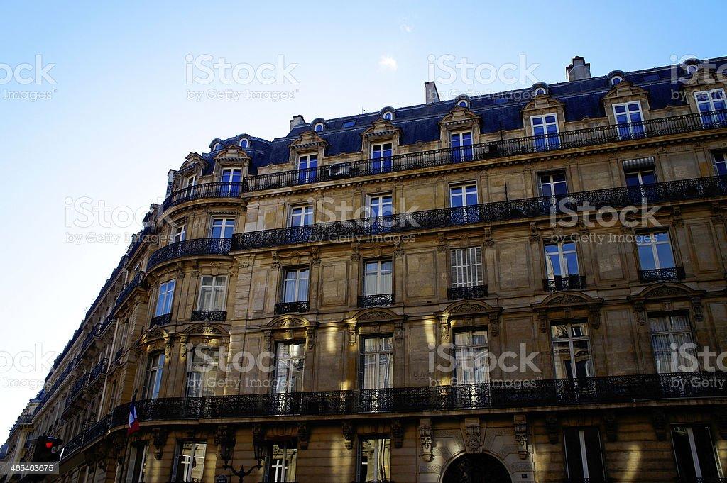 Paris Building, cladding royalty-free stock photo