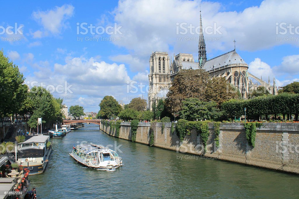 Paris, capital and the most populous city of France stock photo