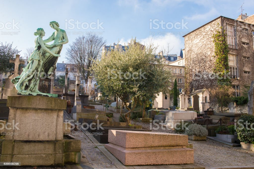 Paris, cemetery stock photo