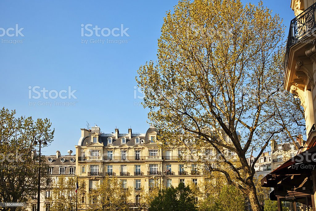Paris City Apartments stock photo
