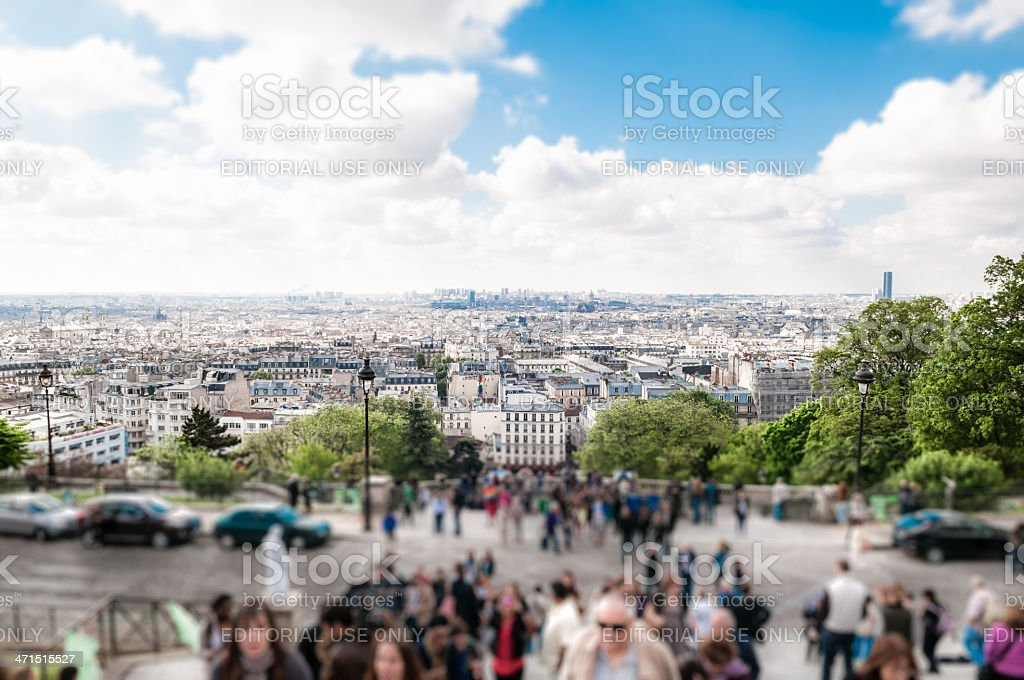Paris city centre top view royalty-free stock photo