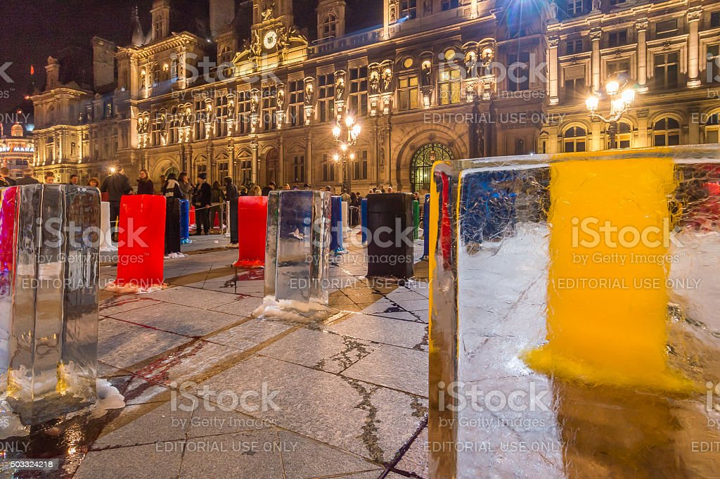 Paris City Hall, France stock photo