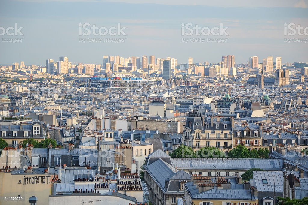 Paris city look over the city stock photo