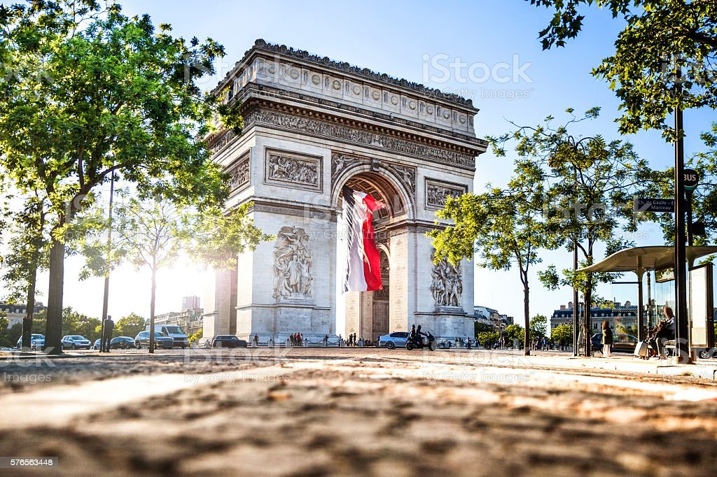 Paris city view - Arc de Triomphe stock photo