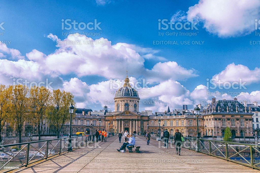Paris city view - Institut de France stock photo