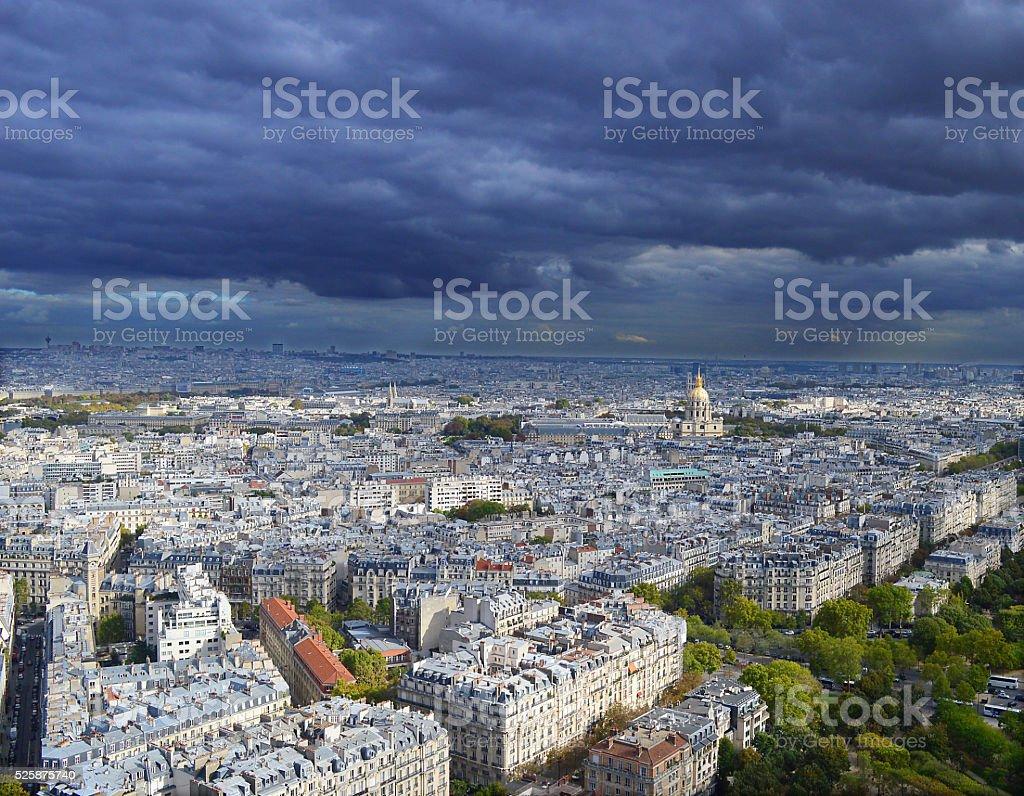 Paris city view left bank stock photo