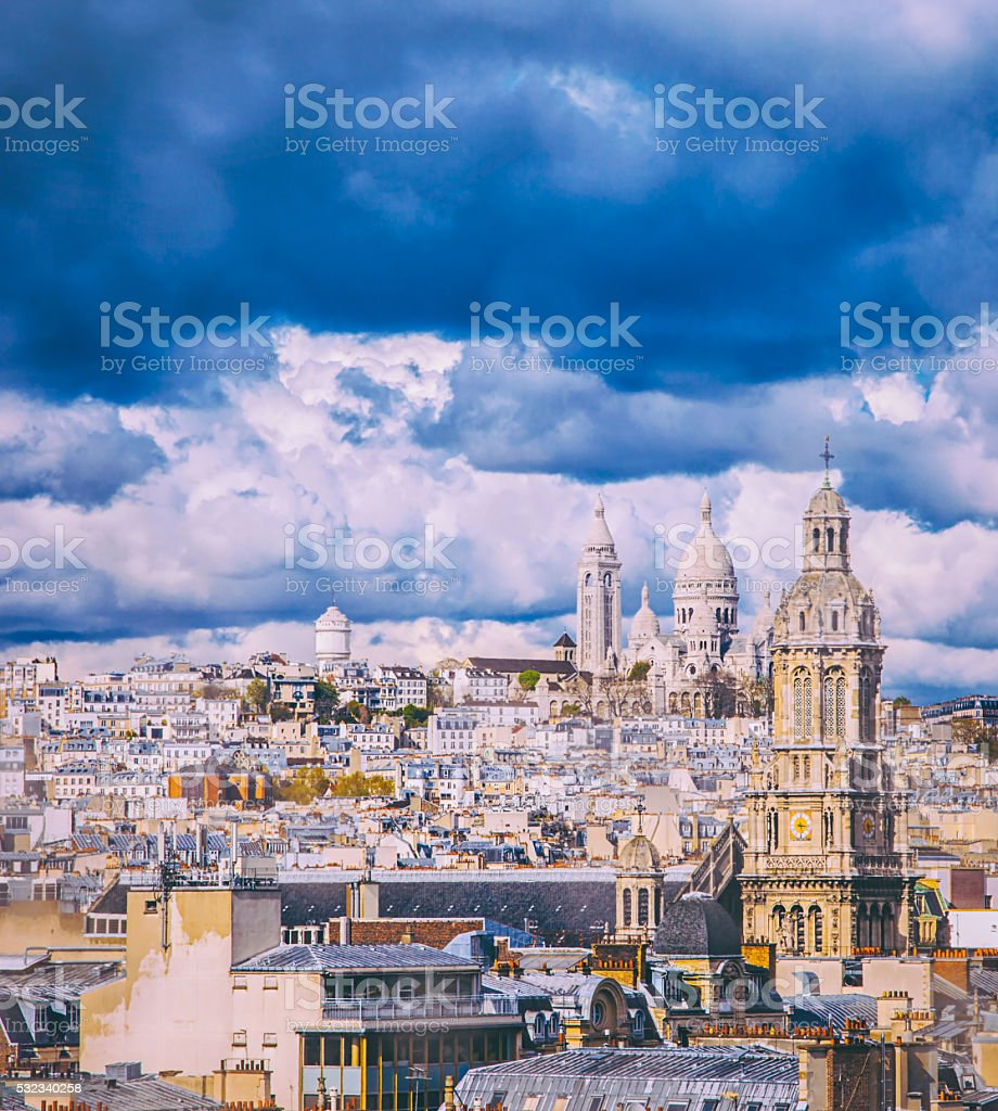 Paris City view stock photo