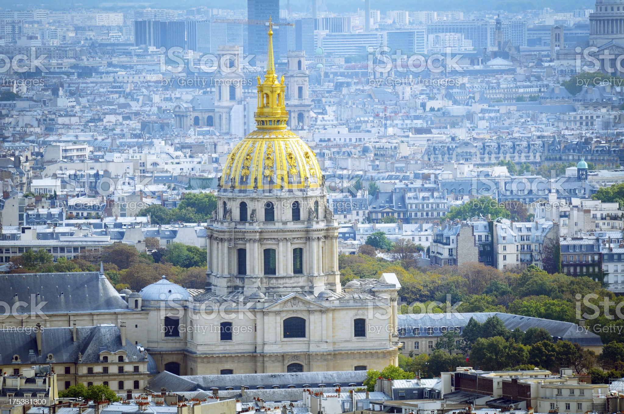 Paris Cityscape and Invalides Palace - XLarge royalty-free stock photo