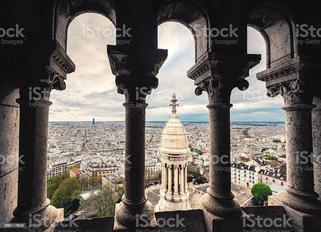 Paris Cityscape From Sacre Coeur stock photo