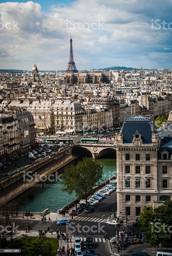 Paysage urbain de Paris photo libre de droits