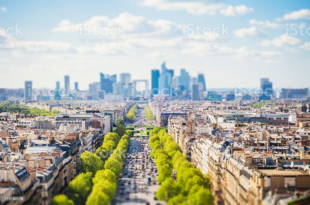 Paris cityscape - Tilt-Shift royalty-free stock photo