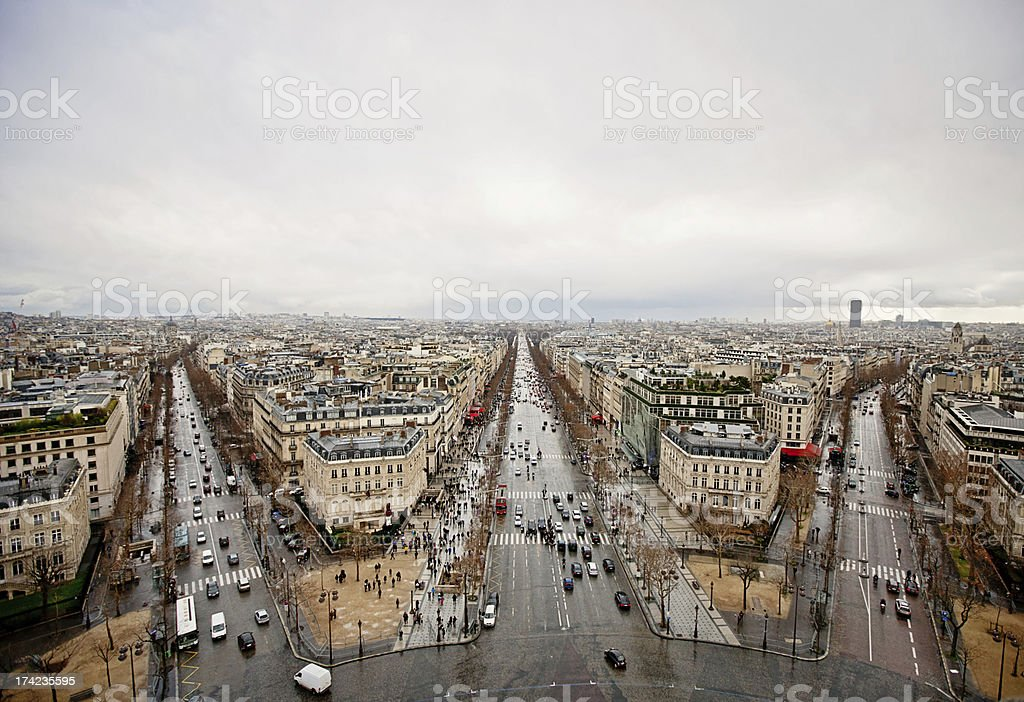 Paris Cityscape, view from above royalty-free stock photo