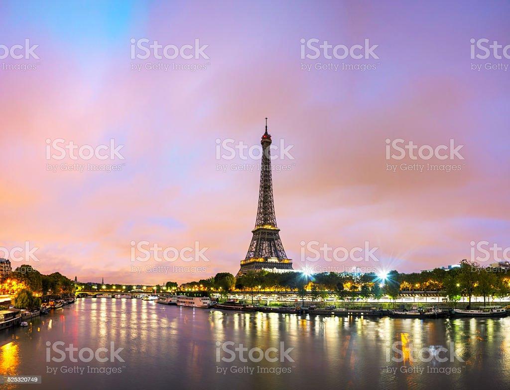 Paris cityscape with Eiffel tower stock photo
