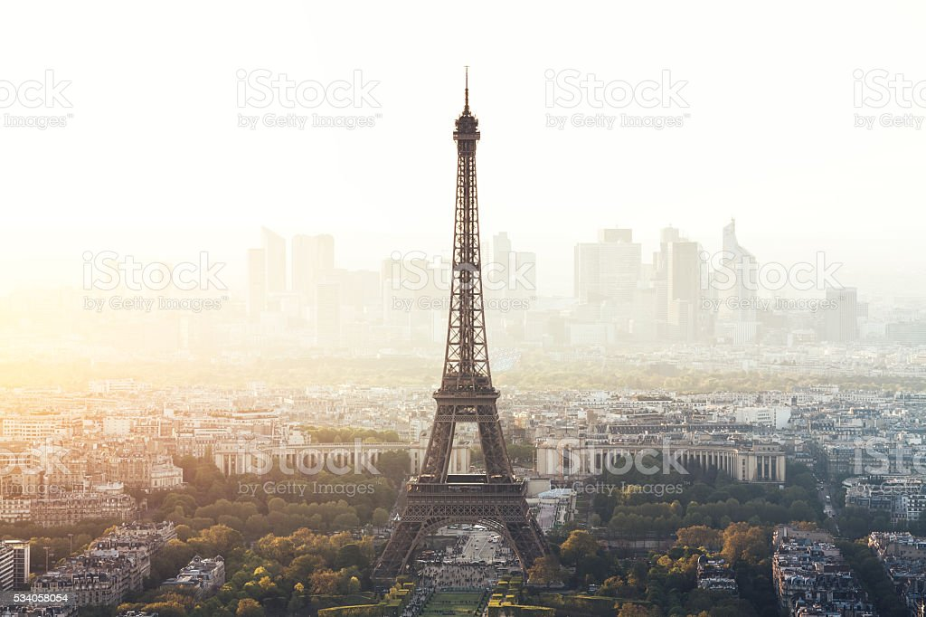 Paris Cityscape With Eiffel Tower stock photo