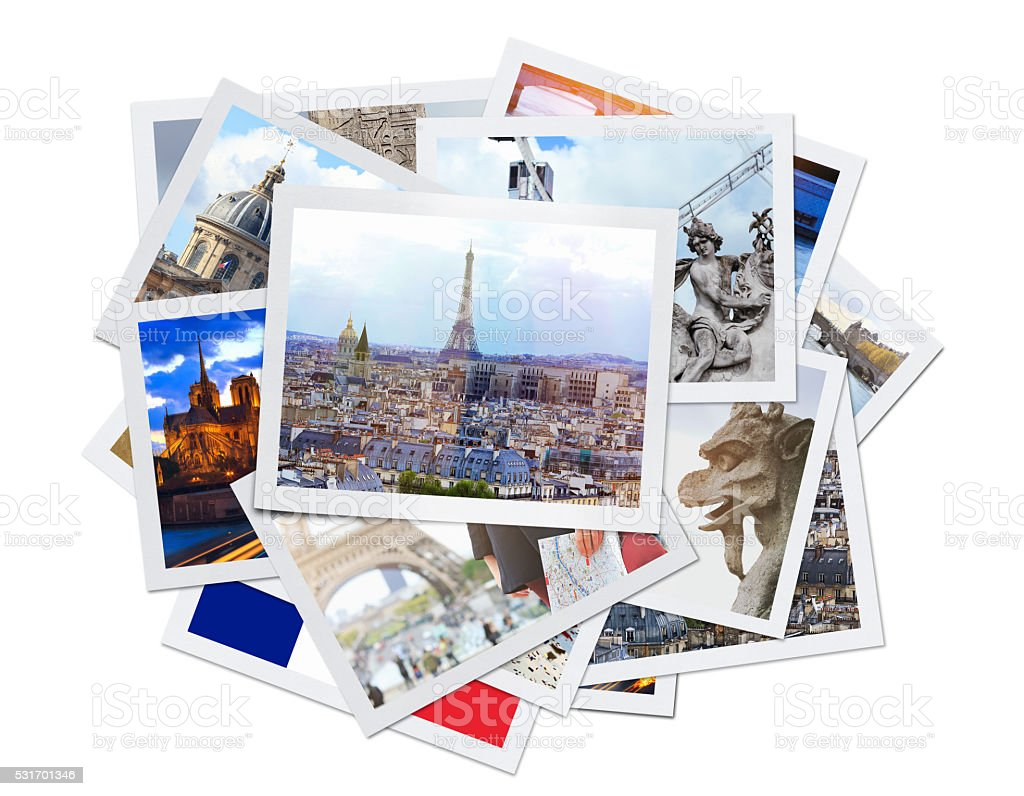 Paris Collage (Clipping Path) stock photo