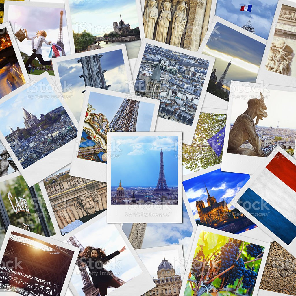 Paris Collage stock photo