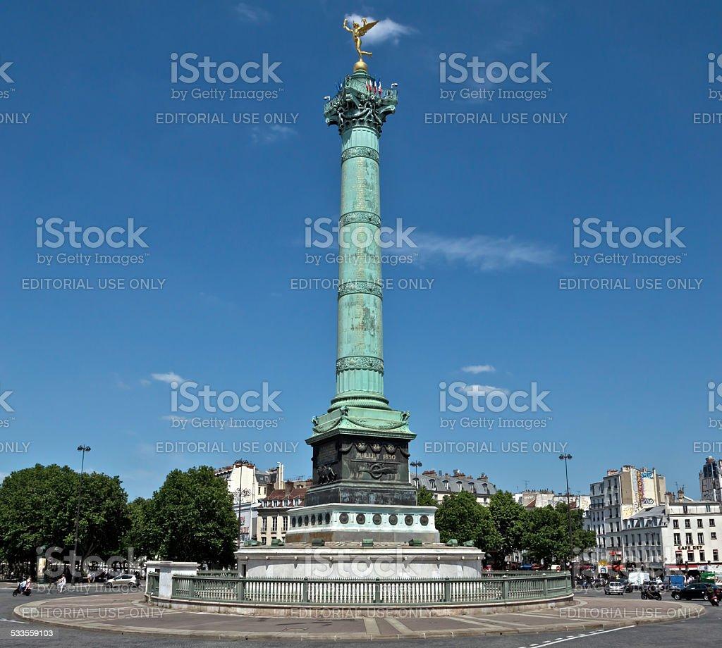 Paris - Colonne de Juillet stock photo
