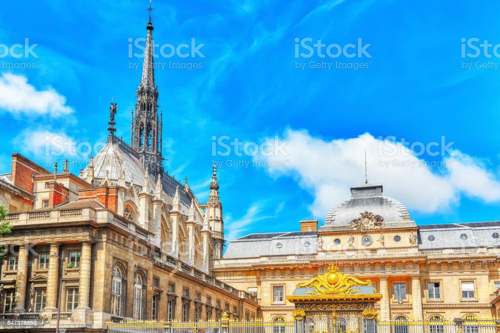 Paris Courthouse (Palais de Justice de Paris) in Paris. France. stock photo