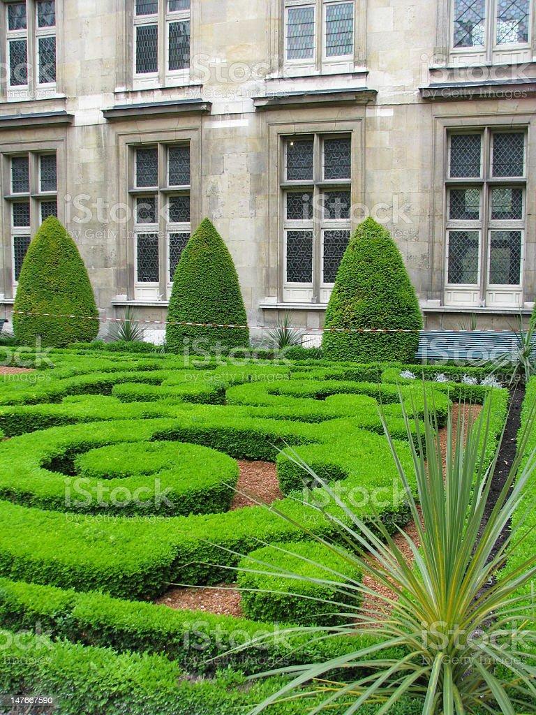 Paris Courtyard Garden stock photo