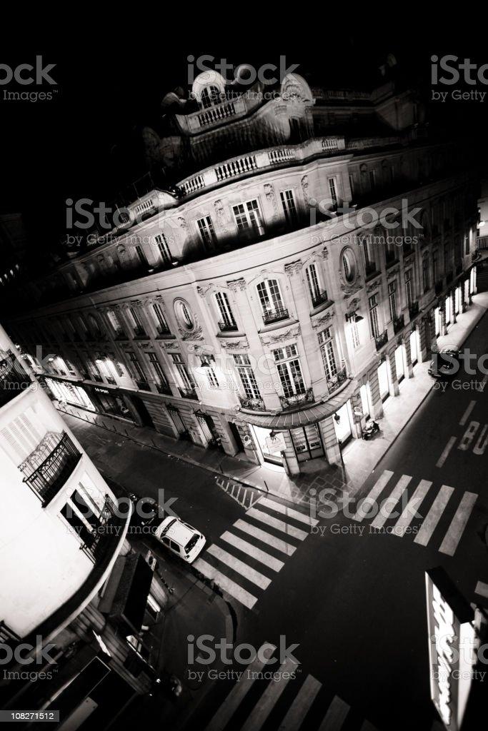 Paris Crossroads royalty-free stock photo