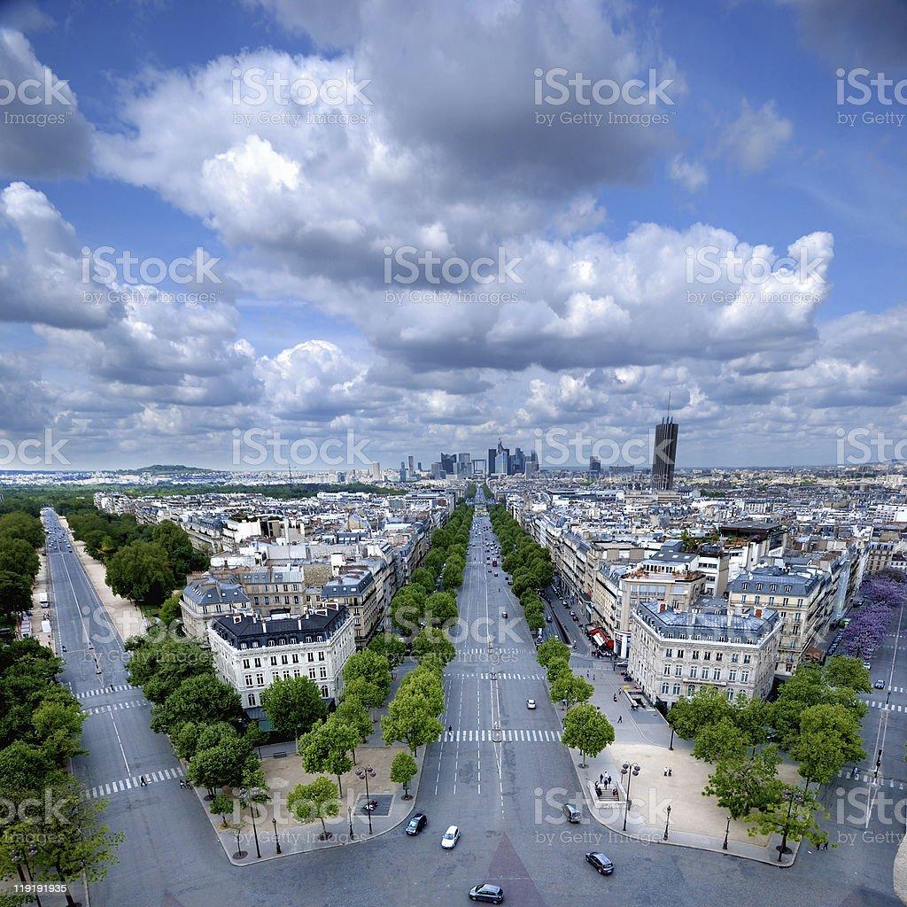Paris Defense cityline royalty-free stock photo