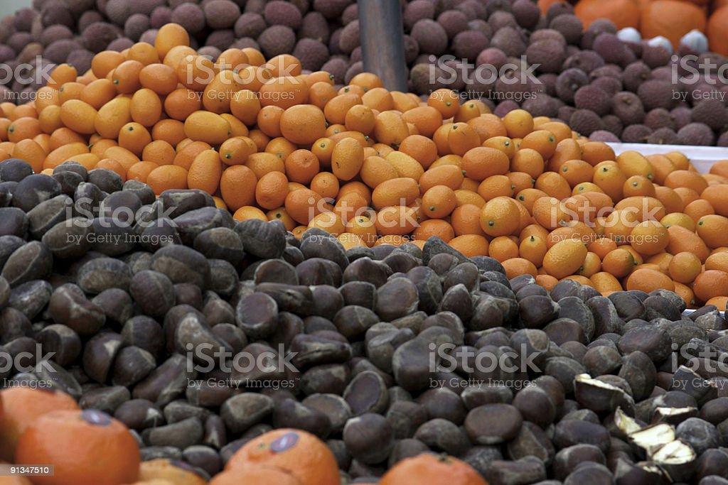 Paris exotic Fruit stock photo
