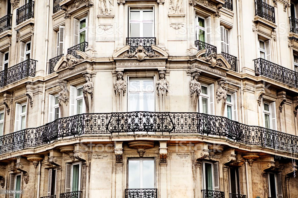 Paris Facade stock photo