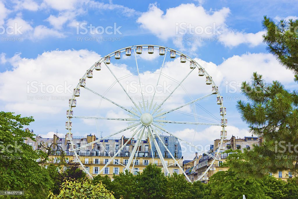 Parigi, ruota panoramica. foto stock royalty-free