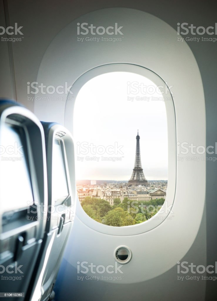 Paris Flight stock photo
