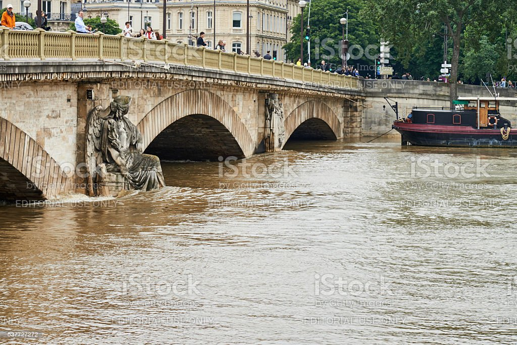 Paris floods Paris, France royalty-free stock photo