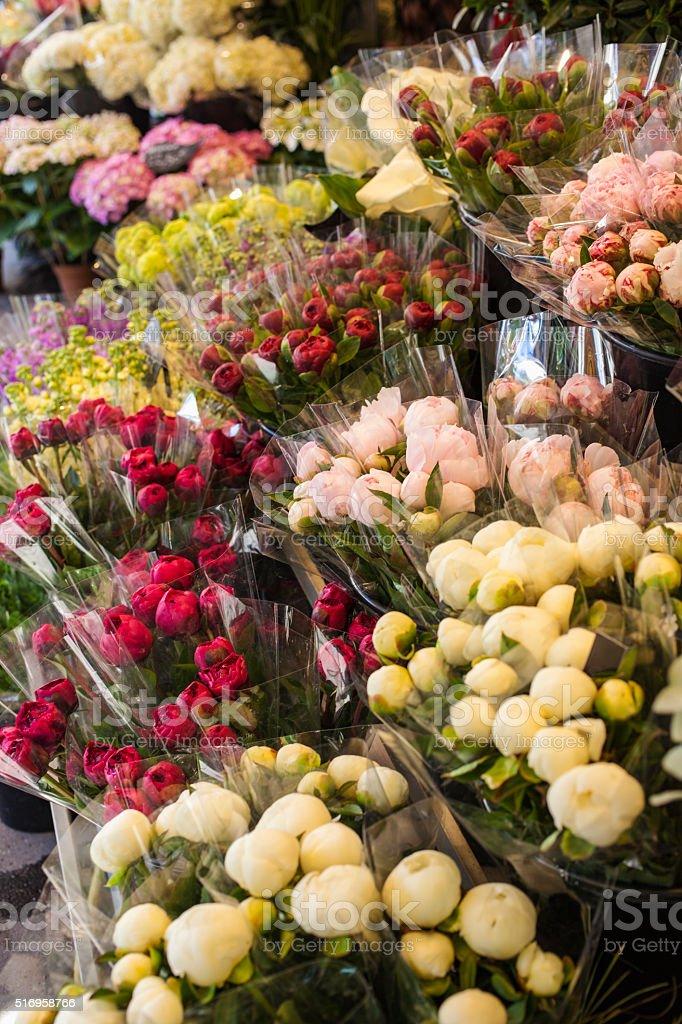 Paris Flower Market stock photo