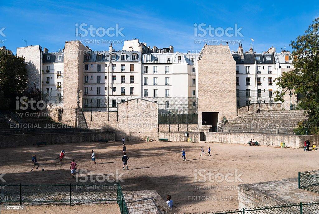 Paris, France: Arenes de Lutece stock photo