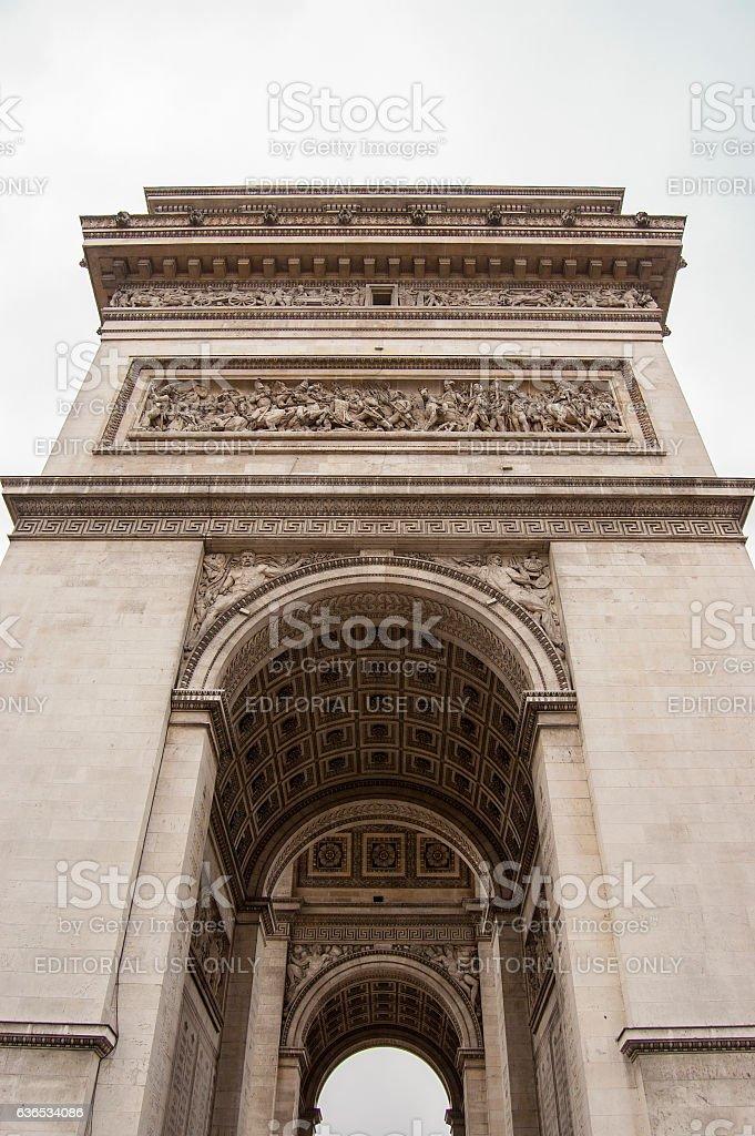 Paris, France, August 17, 2009:Arc de Triumph stock photo