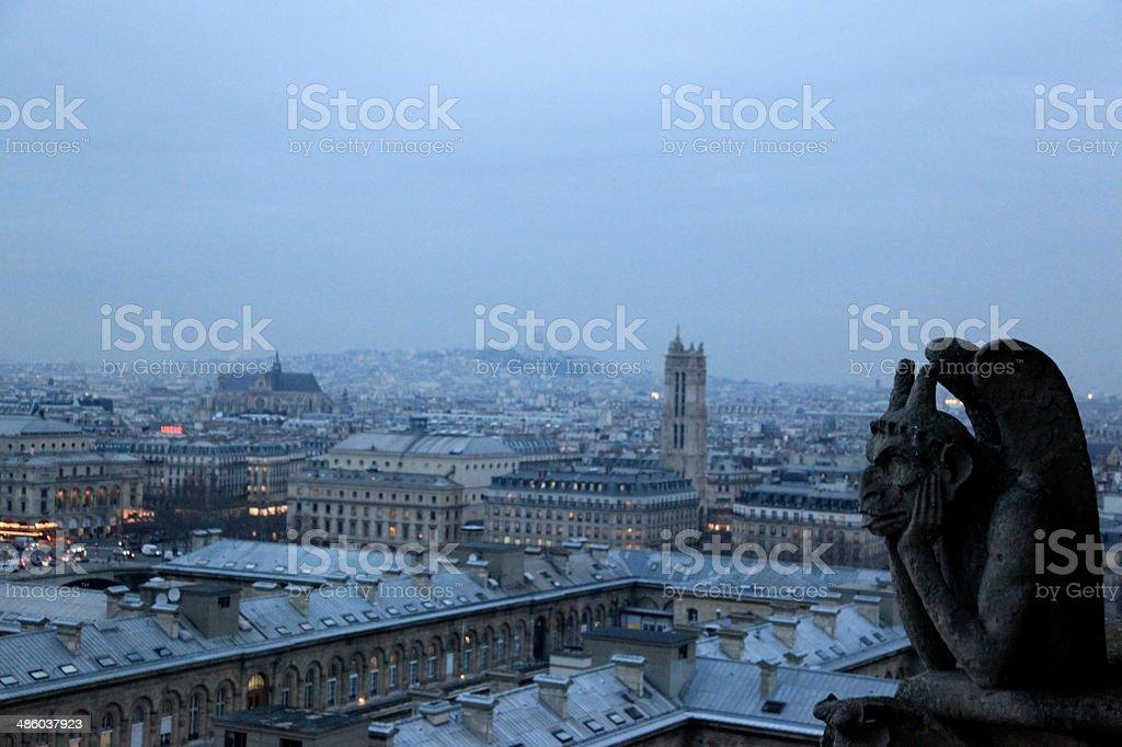 Paris - France (Ile-de-France), France, Black And stock photo