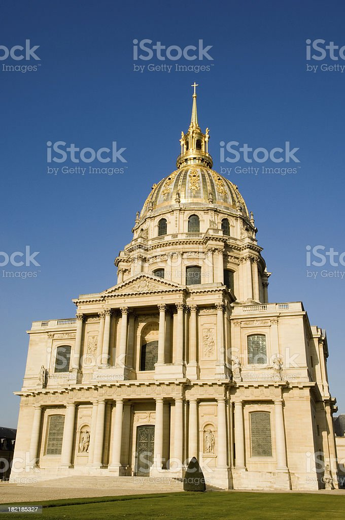 paris france les invalides monument royalty-free stock photo
