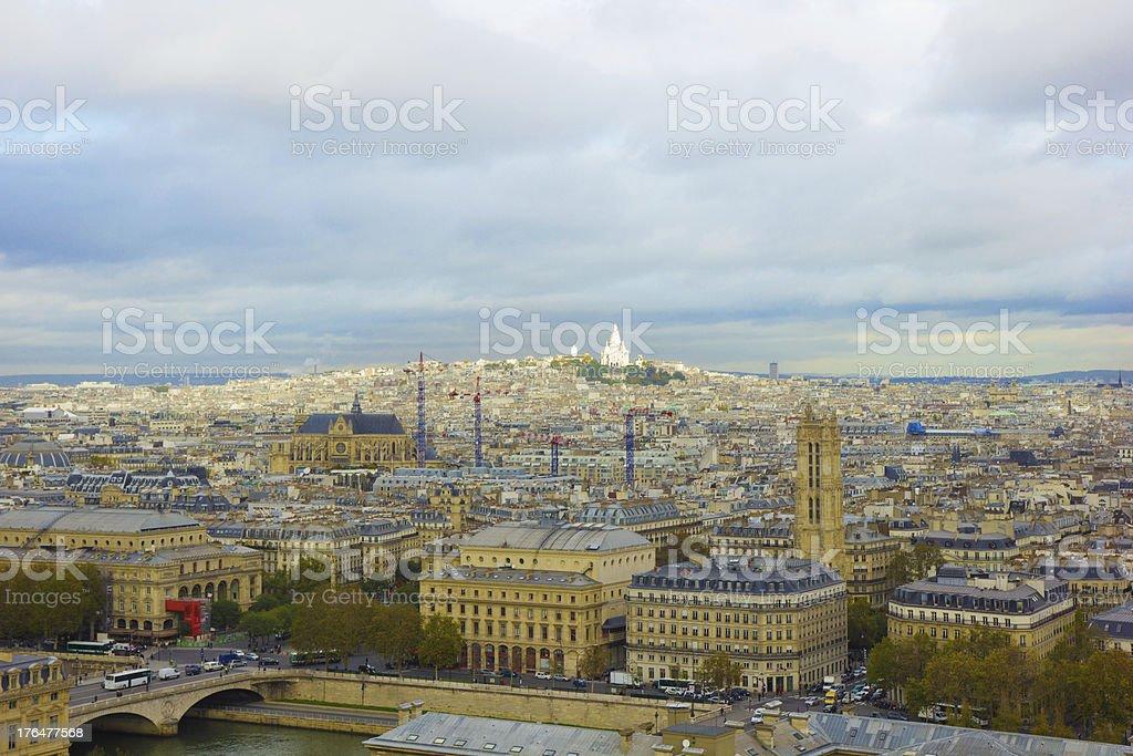 Paris, France, panoramic aerial view royalty-free stock photo