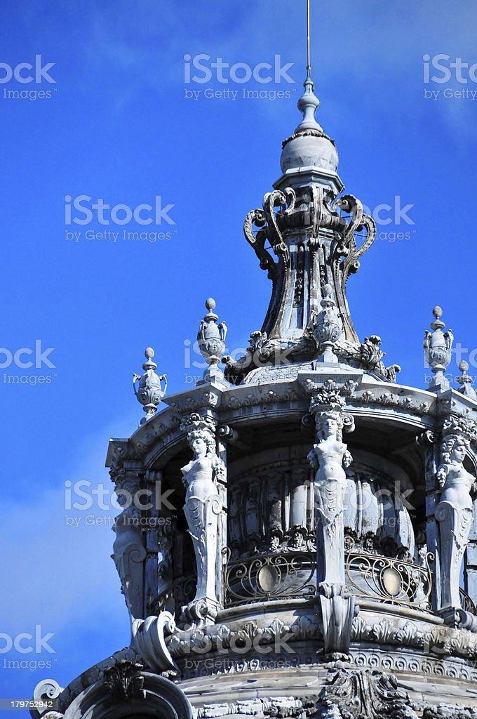 Paris, France: Petit Palais, decorated lantern of the dome stock photo