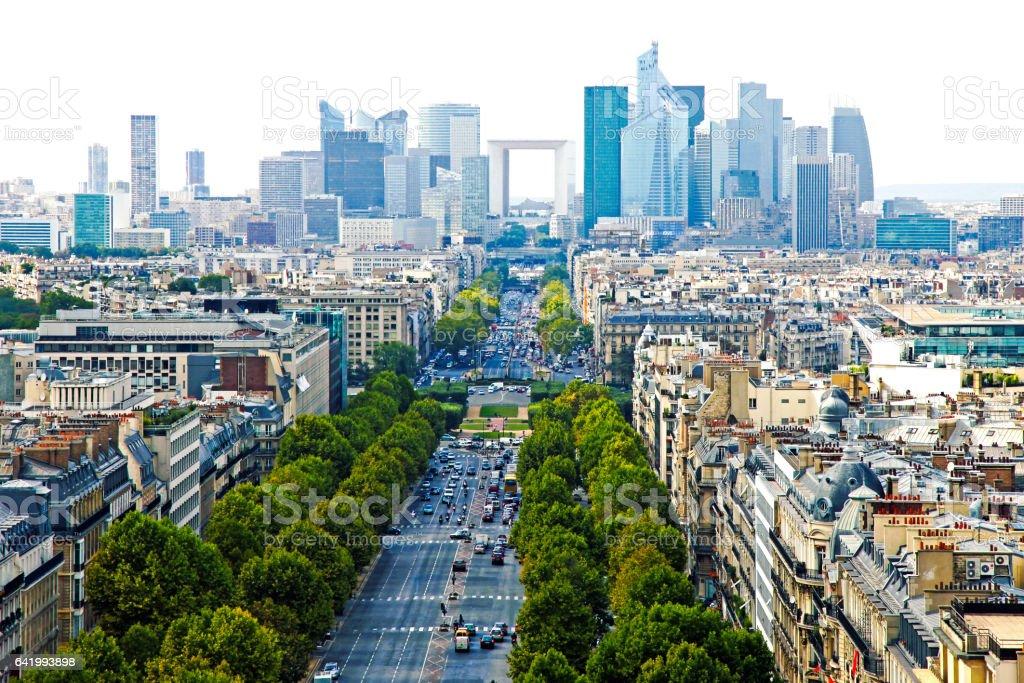 Paris France Skyline stock photo